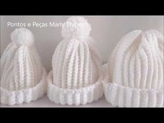 GORRO TOUCA COM TABELA PARA TODAS IDADES COMO FAZER TUTORIAL MARLY THIBES - YouTube Crochet Beanie Hat, Crochet Cap, Crochet Cross, Crochet Home, Beanie Hats, Crochet Edging Patterns, Crochet Stitches, Baby Hats, Knitting