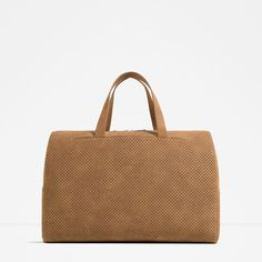 ZARA - COLLECTION SS16 - CLASSIC MICRO-PERFORATED DUFFLE BAG