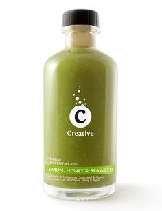 Creative Vinegar Condiment with Lemon, Honey & Seaweed