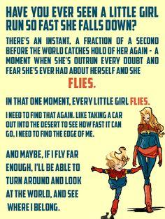 run so fast she falls down Carol Danvers fanart by clipboard-princess