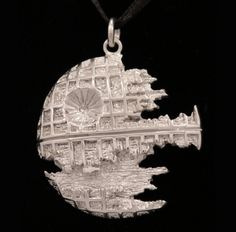 Death star pendant - sterling silver ~ $225 ~ Wow -  Love the intricacy!