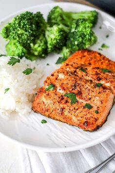 Making salmon is easy in the air fryer; It's done in less than 10 minutes! Air Fryer cajun salmon is juicy, flakey, healthy, and delicious! Best dinner! Great Recipes, Snack Recipes, Dinner Recipes, Healthy Recipes, Seafood Recipes, Delicious Recipes, Recipe Ideas, Healthy Food, Cooking Recipes