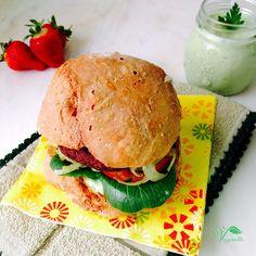 Esta receita é para vos apresentar mais uma forma rápida de preparar uma refeição vegan. O burger que vos mostro nesta receita já vem pré-feito e apenas tem de ser grelhado, assado ou salteado e fica pronto. Os burguers do Aldi dizem Vegetariano na embalagem, mas são vegans e biológicos. São da marca GutBio,