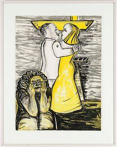 Lena Cronqvist: Figurkomposition, litografi, 73x52,5, edition LC 13/40 - Bukowskis Market 11/2015