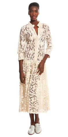 SUNO pleated lace dress.  so timeless...so now!