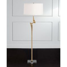 Arteriors Roosevelt Floor Lamp (279.545 HUF) ❤ liked on Polyvore featuring home, lighting, floor lamps, gold, arteriors, cord lights, arteriors floor lamp, cord lamp and arteriors lighting