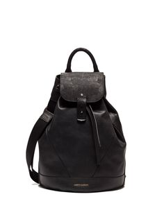 SINGLE-SHOULDER BACKPACK IN SOFT LEATHER - Shoes Man - Alberto Guardiani