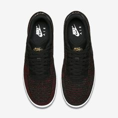 buy online b0a20 bc769 Chaussure Nike Air Force 1 Pas Cher Homme Flyknit Low Noir Or Metallique  Blanc Noir