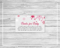 Winter Wonderland Baby Shower Book Instead by SweetPeaPaperieShop