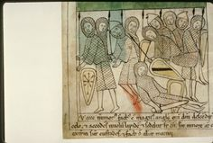 Navarre Picture Bible, Pamplona, Spain, 1197AD: Sleeping guards at the sepulchre