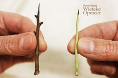 Wooden needles, handmade from the thorns of may-treesby WietekeOpmeer on Etsy