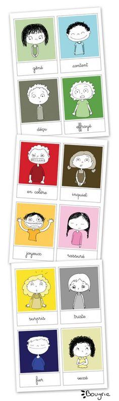 cartes des émotions                                                                                                                                                                                 Plus