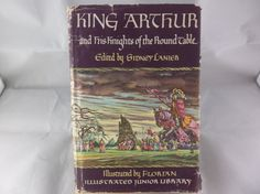 King Arthur And His Knights Of The Round Table 1950 Illustrated Junior Library  #KingArthur #KnightsOfTheRoundTable #Vintage #Antique #Hardcover #Books #SidneyLanier #Illustrated #Bonanza