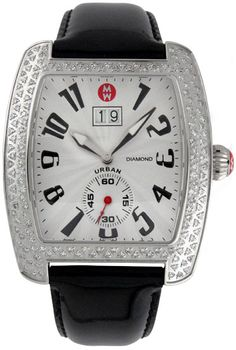 Michele Urban Steel Diamond  in Black Ladies Watch