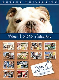 The 2012 Blue II Calendar at the Butler Bookstore.