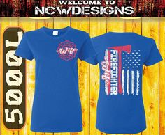 Fire Wife TShirts Firefighter Shirts Maltese Cross Flag Shirt Firefighter Wife Gifts For Her Fireman Wife TShirt Firefighter Wedding Gift by NCWDesigns. Explore more products on http://NCWDesigns.etsy.com