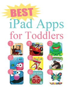 Best iPad Apps for Toddlers. PIN this for the airplane ride.
