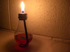 How to Make a Light Bulb Oil Lamp by bumpus via instructables #instructables #bumpus