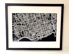 "Hand cut paper map of Toronto by CUTdesignsrt on Etsy featured in ""TEST ♥ Toronto"" list curated by Toronto Etsy Street Team on Etsy Cut Paper, Paper Cutting, Toronto, Maps, Street, Etsy, Design, Papercutting, Cutoffs"
