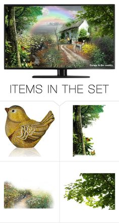 """""""What's on the TV.?"""" by cardigurl ❤ liked on Polyvore featuring art"""