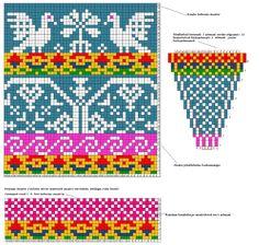 Helena Smitt - muster nr 3 Crochet Stitches Patterns, Crochet Chart, Beading Patterns, Stitch Patterns, Knitting Patterns, Knitting Charts, Knitting Stitches, Hand Knitting, Motif Fair Isle