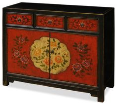 Hand Painted Tibetan Chest - asian - Furniture - China Furniture and Arts