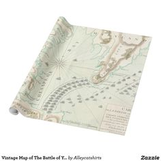Vintage Map of The Battle of Yorktown (1781) Wrapping Paper