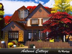 Cozy suburban house built on 30x20 lot in Willow Creek.  Found in TSR Category 'Sims 4 Residential Lots'