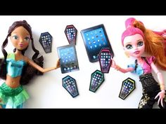 How to make a doll tablet - doll crafts - YouTube