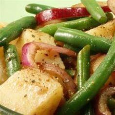 Warm Green Bean and Potato Salad with Goat Cheese Allrecipes.com