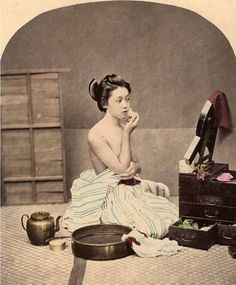 Geisha Applying Makeup