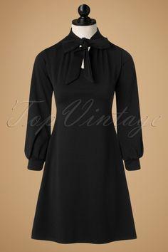 Vintage Chic Scuba Crepe Black Tie Neck Dress 106 10 19625 20161031 0016wpop
