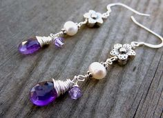 Sterling Silver Crystal Wire Wrapped Purple Amethyst by LuvAlisa, $25.00  Etsy.Com