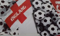 #England football team flag and footballs cotton #blend single size duvet #cover ,  View more on the LINK: 	http://www.zeppy.io/product/gb/2/381827300664/