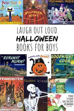 Your boys will laugh out loud at these side-splitting Halloween books! They are going to love these!! Click or tap to see the list now.