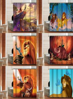 [Visit to Buy] Classic cartoon The Lion King latest custom Shower Curtain Bathroom decor various sizes Free Shipping MORE SIZE SQ0429-ZHH #Advertisement
