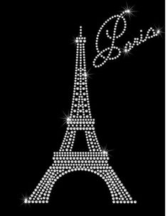 Paris Eiffel Tower Ooh La La Hotfix Rhinestone Bling Iron on Heat Transfer | eBay