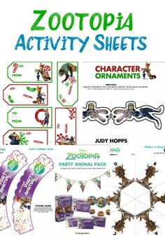 Zootopia Family Movie Night- These printable activity sheets would make for a great family movie night.