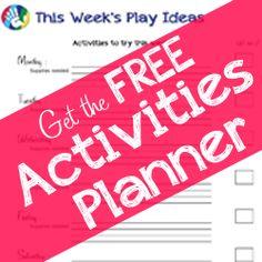 Free Printable Kids Activities Planner