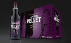 + Design de embalagem :   Projeto de Mark Grey, para a marca de cerveja London Velvet.