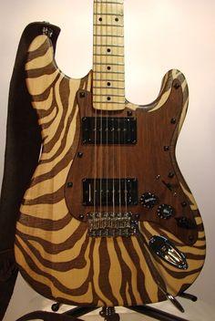 Metzler Guitars Zebra-Stratt