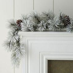 Winter Faux Pine Garland