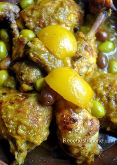 tajine poulet citron confit au four ; Crockpot Recipes, Cooking Recipes, Healthy Recipes, Healthy Food, Morrocan Food, Chicken With Olives, Pasta, Middle Eastern Recipes, Turkish Recipes