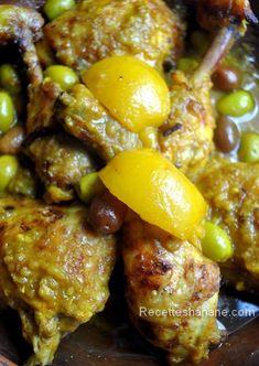 Poulet aux olives et au citron confit , à la marocaine