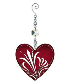 Another great find on #zulily! Red Glass Heart Ornament #zulilyfinds