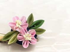 Japanese small corsage clip brooch CBS003 by Keikonoheya on Etsy