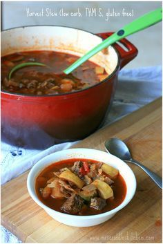 Harvest Stew- a delicious THM S fall dinner.
