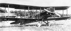 The Airco D.H.9a biplane bomber was an enlarged version of the D.H.9 with much needed improvements. It was equipped with the more efficient American Liberty engine, had a nose mounted radiator and even featured a spare tire mounted under the fuselage. Although a bit shorter than the D.H.9, its larger wings provided more lift for carrying heavier payloads. The D.H.9a entered service too late to have much of an impact on the outcome of the war.