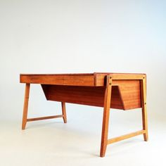 Anonymous; Teak Desk by Clausen and Maerus, 1950s.