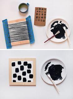 Diy Crafts For Home Decor, Diy Wall Decor, Creative Crafts, Art Decor, Ideias Diy, Pinterest Room Decor, Block Art, Wood Blocks, Decoration